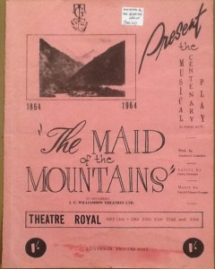 """The Maid of the Mountains"" programme 1964"