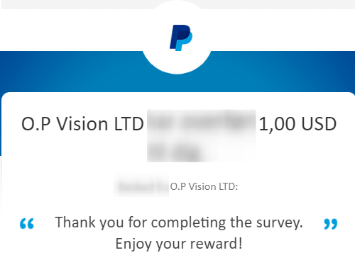 surveytime payment proof