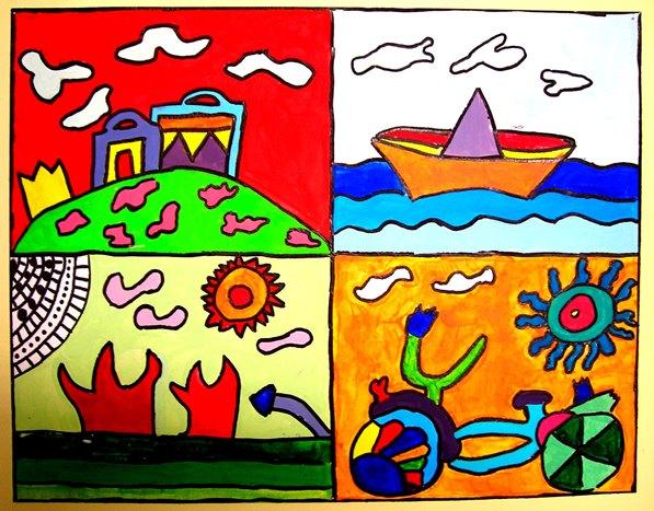 παιδική έκφραση, παιδικές δημιουργίες, καλλιτεχνικό εργαστήρι, εικαστικό εργαστήρι