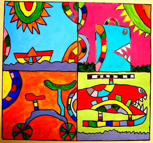 Παιδική τέχνη, παιδική έκφραση, εργαστήρι ζωγραφικής