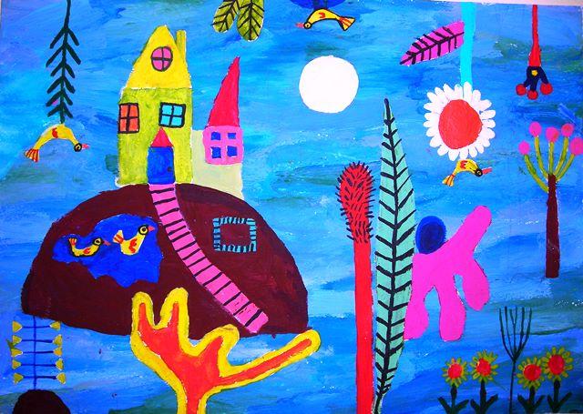 παιδική τέχνη, παιδική έκφραση, ζωγραφική για παιδιά