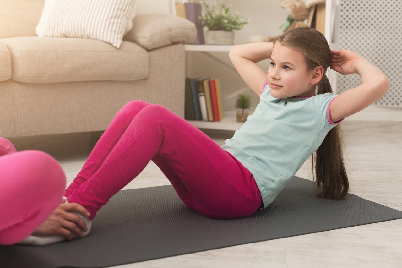 γυμναστική στο σπίτι - παιδιά
