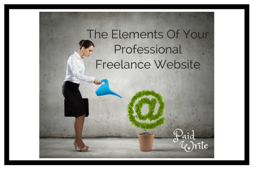 elements of professional freelance website
