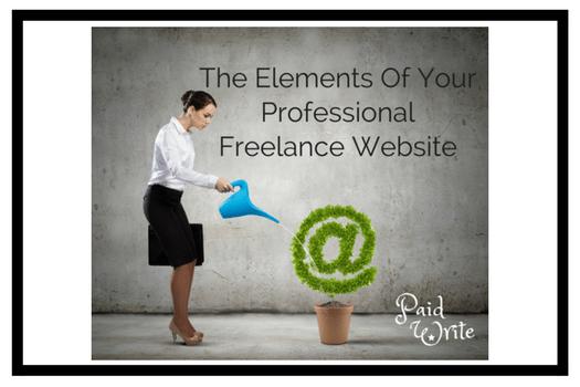 elements of professional freelance website