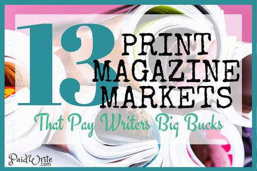 print magazine markets for freelance writers