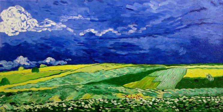 Wheatfield under Thunder Clouds