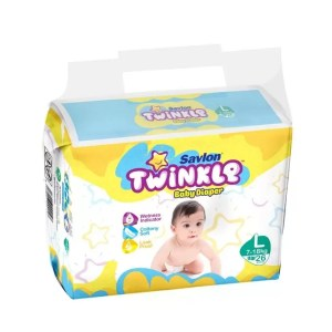 Savlon Twinkle Baby Diaper (7-18kg/36pcs) [Get 1 Savlon Twinkle Baby Diaper