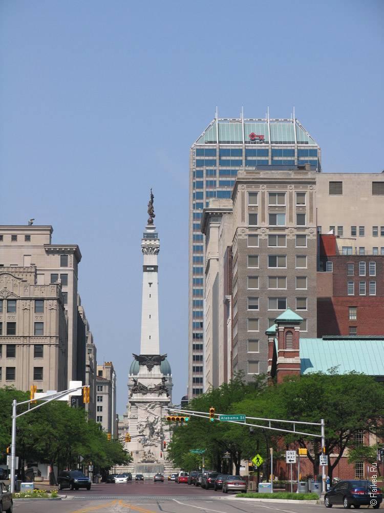 Индианаполис городская стела