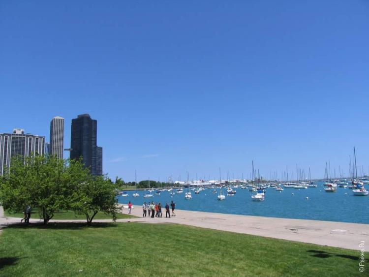 Чикаго вид на озеро Мичиган