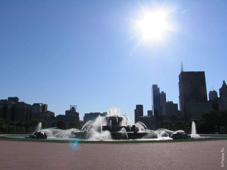 Чикаго фонтан в центре города