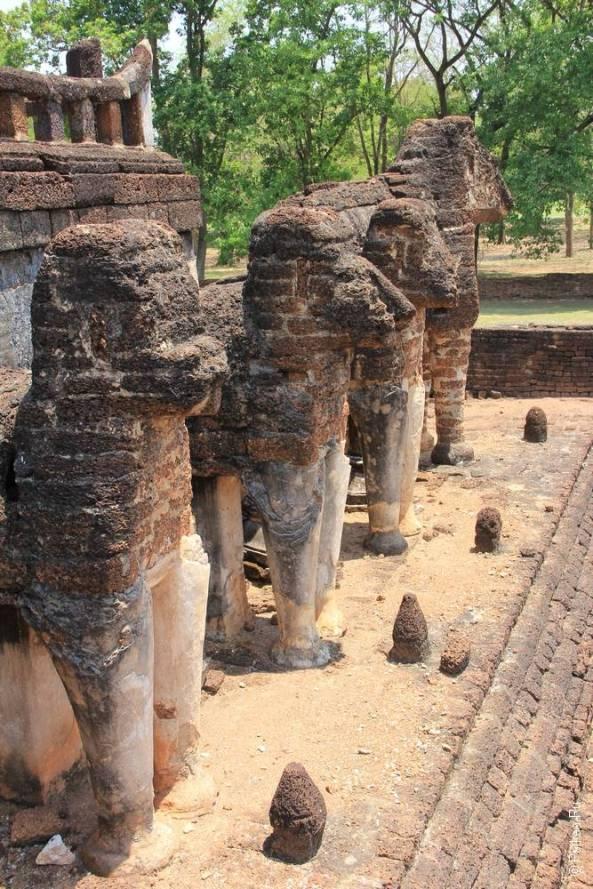 Таиланд - Си Сатчаналай - Ват Чанг Лом (Thailand - Si Satchanalai - Wat Chang Lom)