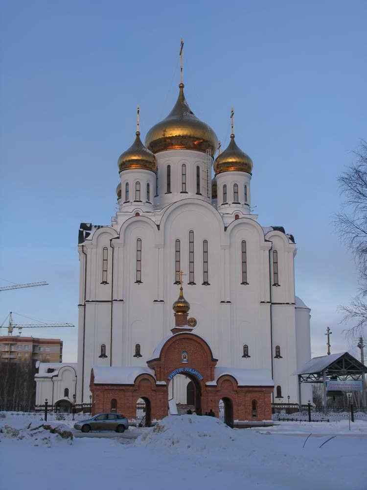 сыктывкар - Стефановский собор морозным днем