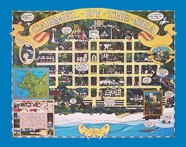 Схема города Кармел