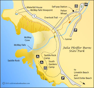 Карта парка Джулии Пфайффер
