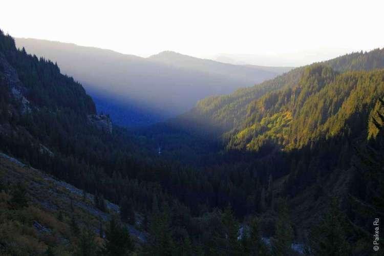 встреча рассвета в горах