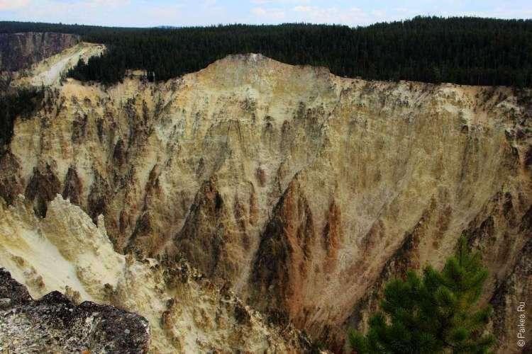 Южная стена гранд каньона йеллоустоун