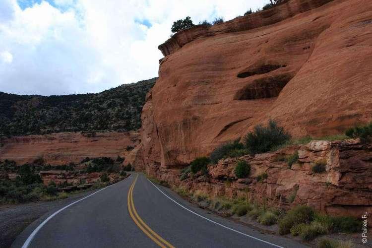 Живописная дорога Rim Rock Drive, Национальный памятник Колорадо, США 26