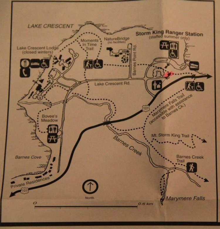 Схема треков вдоль Crescent Lake