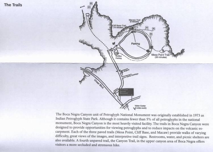 Трейл Бока Негра в нацпамятнике Петроглиф