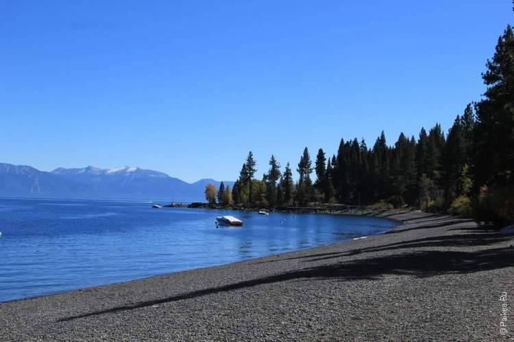 западный берег озера тахо