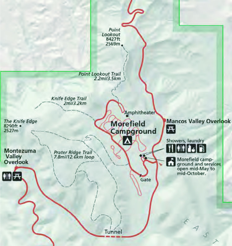 Morefield Campground Map