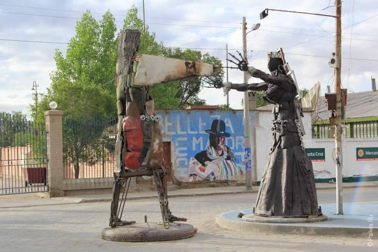 Скульптура в Уюни