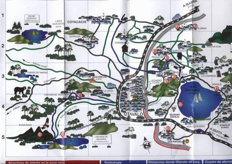 Карта окрестностей Отавало