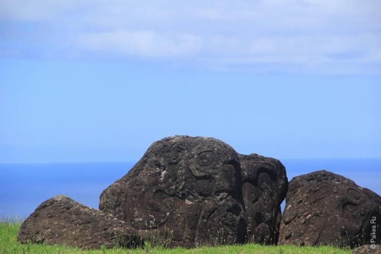 Петроглифы на Оронго, Остров Пасхи (Easter Island)