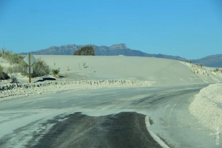 То ли снег, то ли пустыня в Уайт Сэндс
