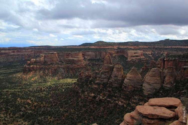 Живописная дорога Rim Rock Drive, Национальный памятник Колорадо, США 15