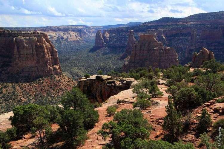 Живописная дорога Rim Rock Drive, Национальный памятник Колорадо, США 22