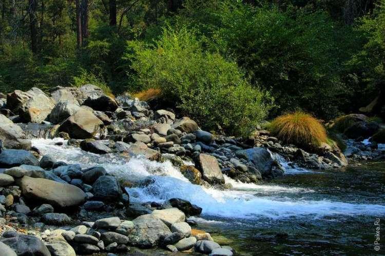 Ручей и водопад