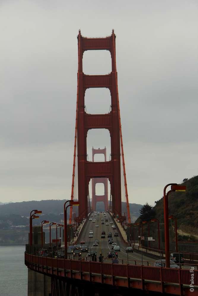 Вид на мост Золотые Ворота с севера / Golden Gate Bridge