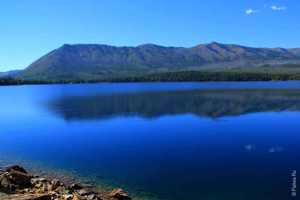 озеро макдональд в национальном парке глейшер