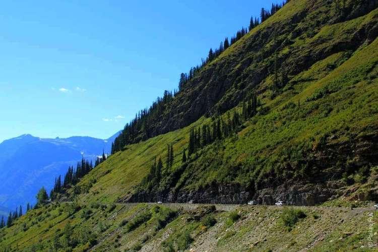 Опасная горная дорога в США