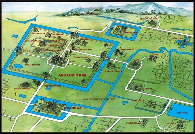 Ангкор на карте
