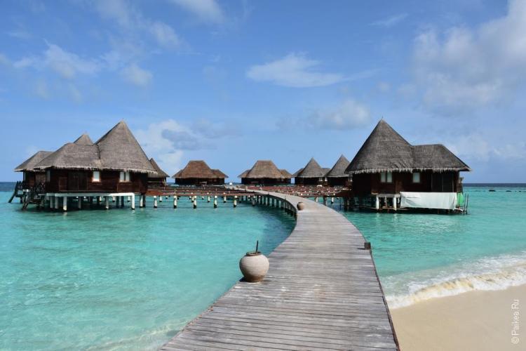 мальдивы отель с водными бунгало