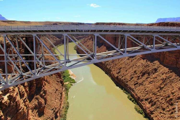 Мраморный каньон, река Колорадо и мост Навахо