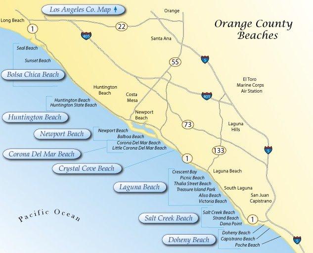 Пляжи Оранж-Каунти, Лос-Анджелес