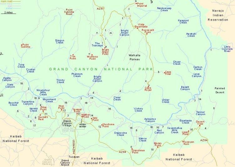 Гранд-Каньон хайки и трейлы