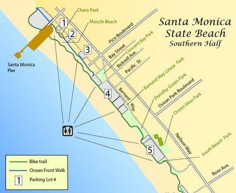 Пляж Санта-Моника в Лос-Анджелесе