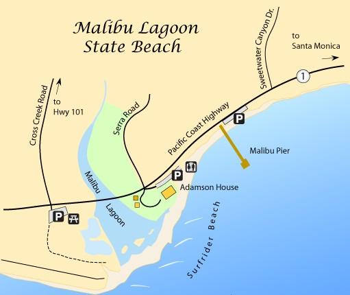 Пляж Серфрайдер-Бич в Малибу для серфинга
