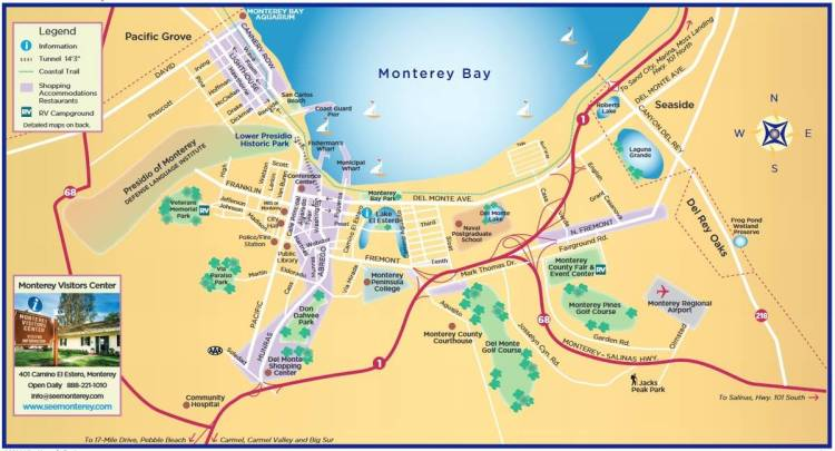 карта монтерей