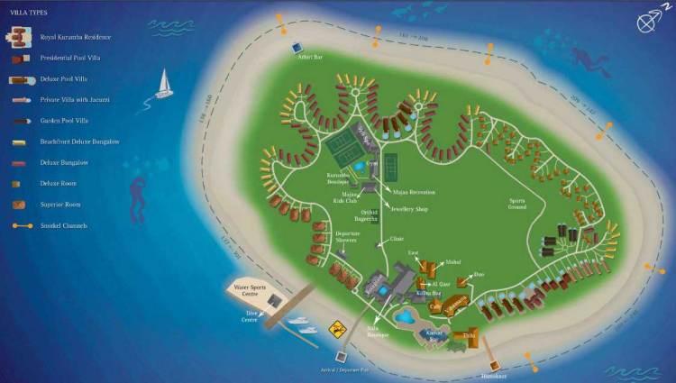 Схема острова Курумба