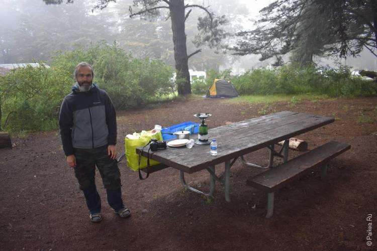 биг сюр палаточный лагерь
