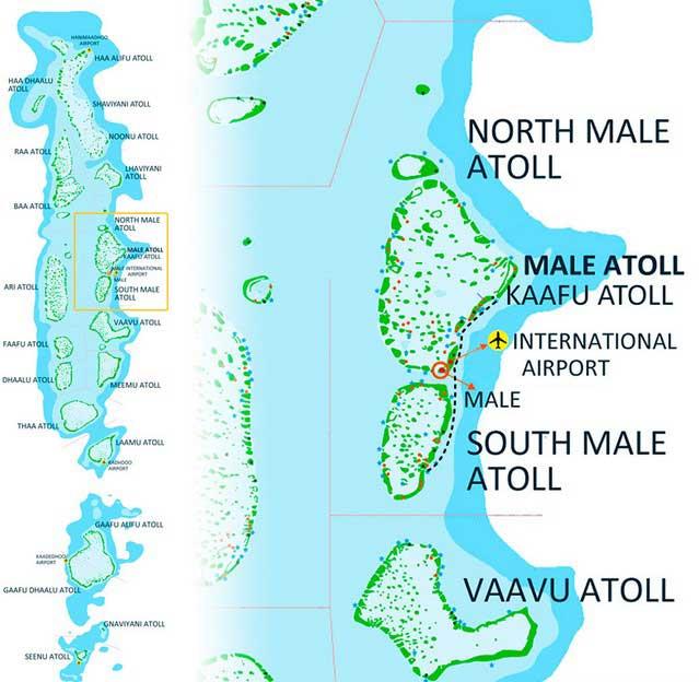 Северный и Южный атолл Мале