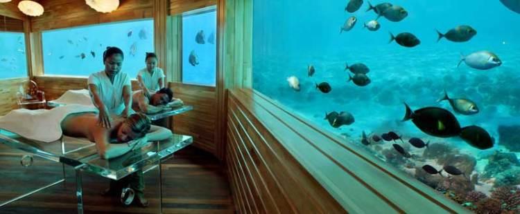 Подводный массаж на Мальдивах