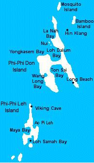 Пхи-Пхи Краби карта