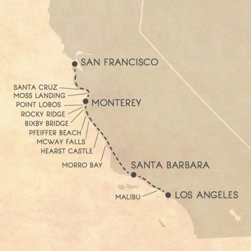 красивая дорога лос-анджелес сан-франциско достопримечательности
