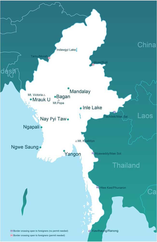 мьянма граница